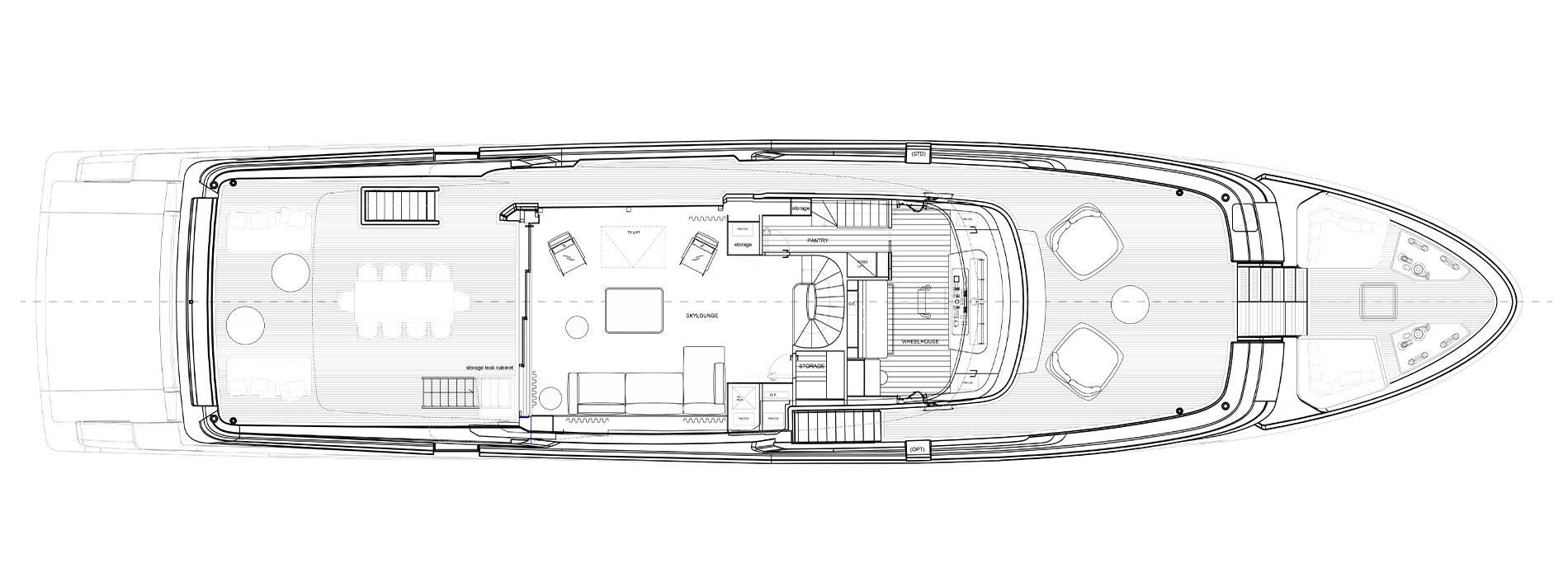 Sanlorenzo Yachts SD118 Upper deck