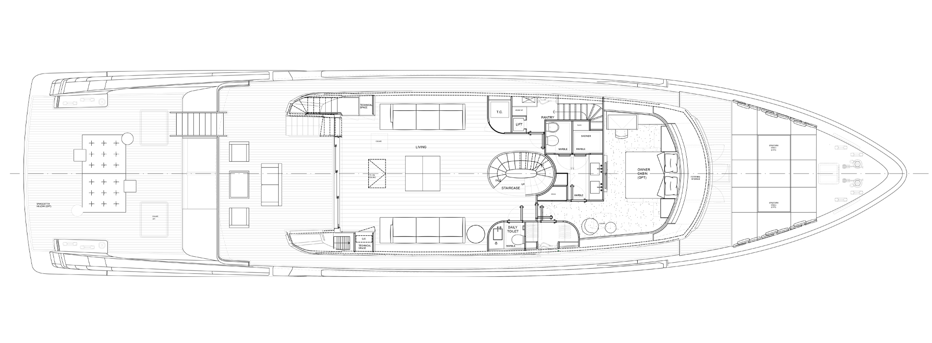 Sanlorenzo Yachts SX112 Main deck Version C