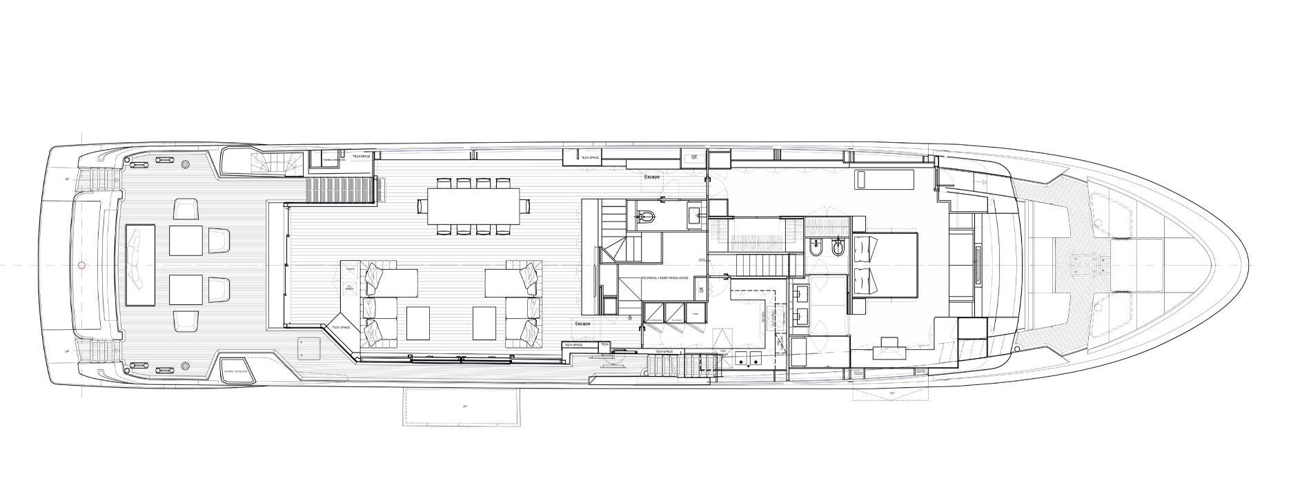 Sanlorenzo Yachts SL120 Asymmetric Main deck
