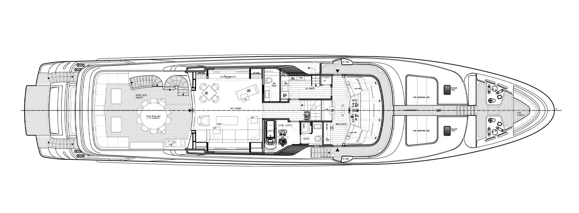 Sanlorenzo Yachts SD122-27 under offer Upper deck