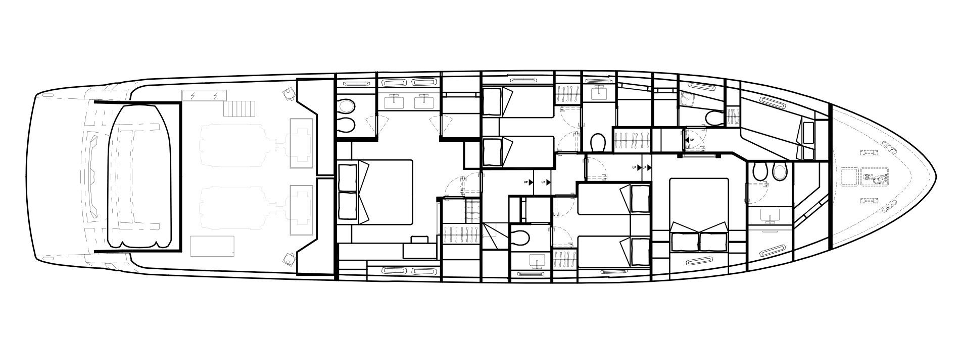 Sanlorenzo Yachts SL78 Lower Deck Version A