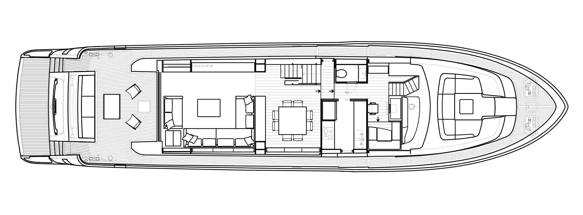 Sanlorenzo Yachts SL86 Main Deck Version A