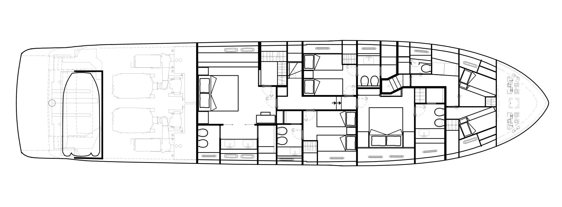 Sanlorenzo Yachts SL86 Lower Deck Version A