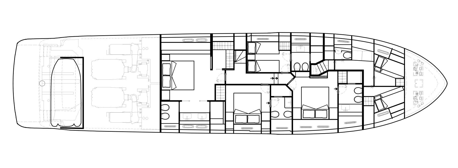 Sanlorenzo Yachts SL86 Lower Deck Version B