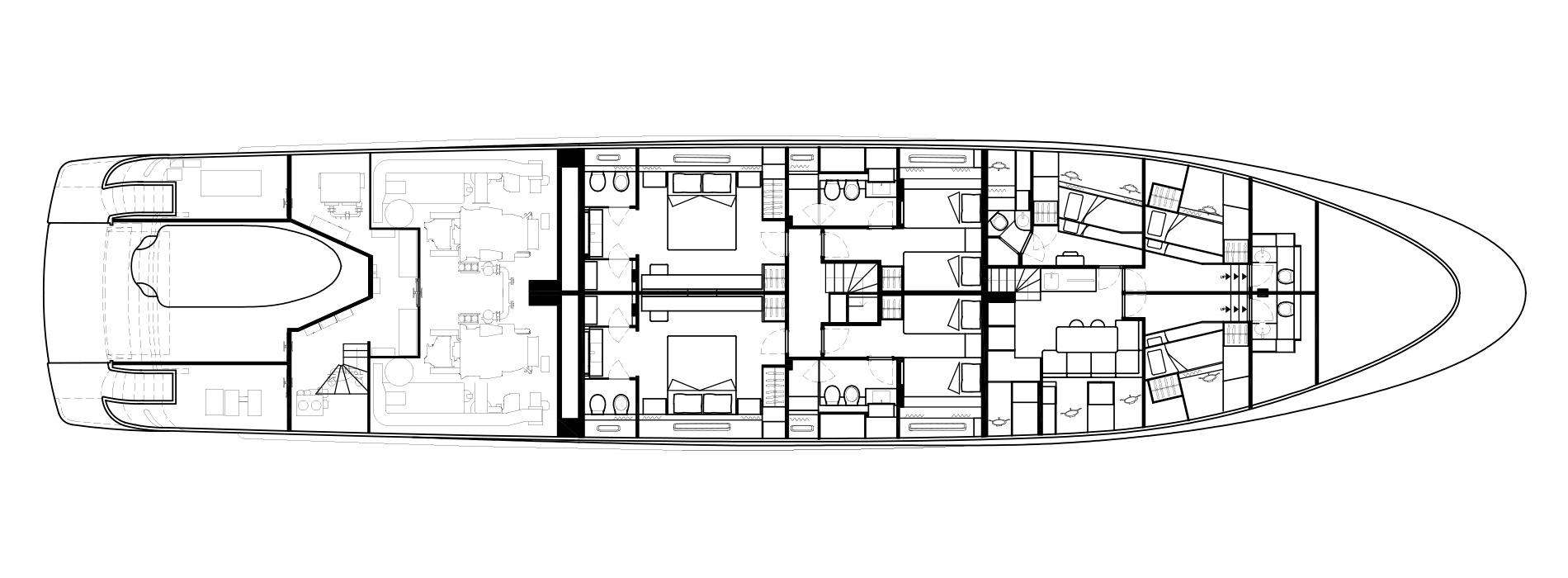 Sanlorenzo Yachts SD126 Lower Deck Version A