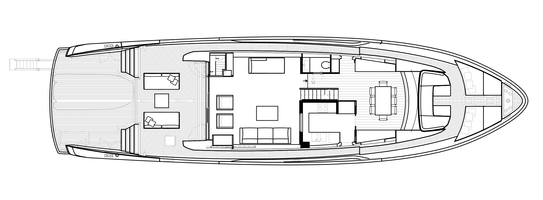 Sanlorenzo Yachts SX88 Main deck Version A Closed Galley