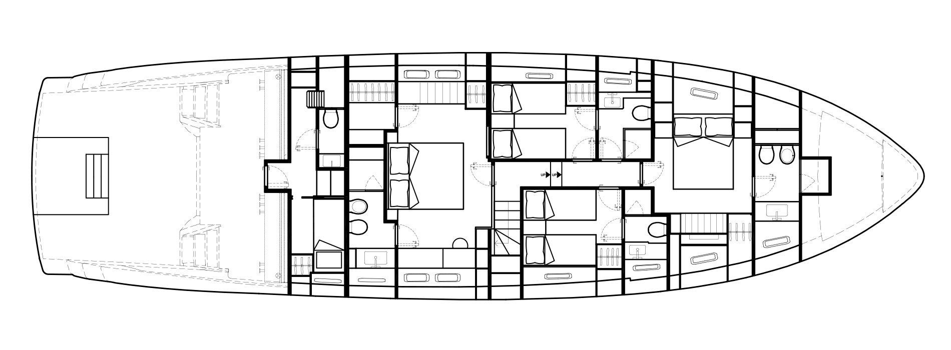 Sanlorenzo Yachts SX76 Lower Deck Version A